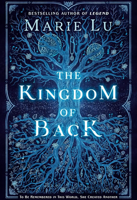This image pictures the blue and black cover of the book The Kingdom of Back.