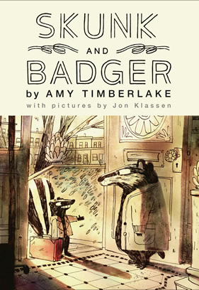 "Picture of the book cover of ""Skunk and Badger."""