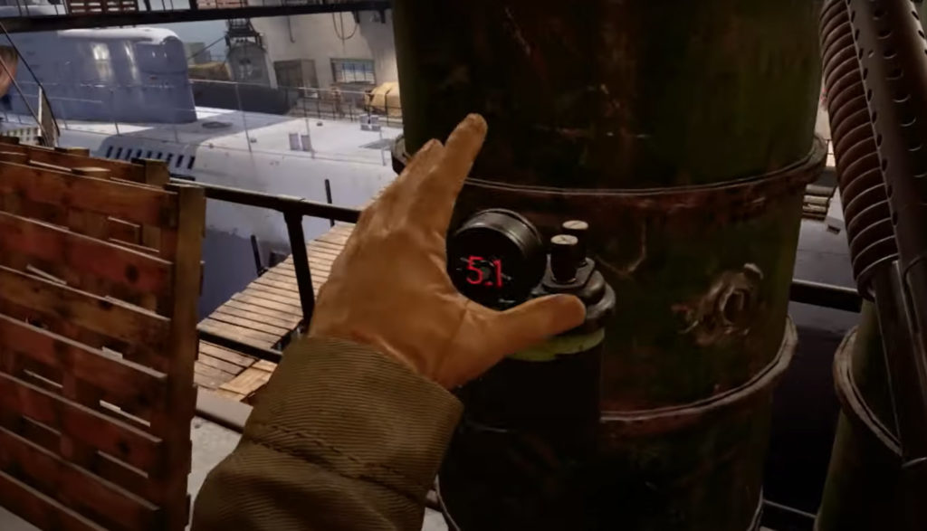 A soldier's hand deploys a timed bomb in Medal of Honor: Above and Beyond