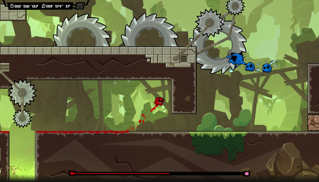 Screenshot of the game Super Meat Boy Forever