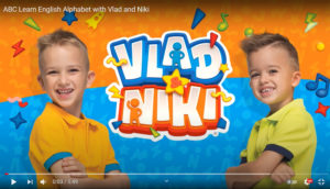 Screenshot of the YouTube Channel Vlad and Niki, featuring two young brothers smiling.