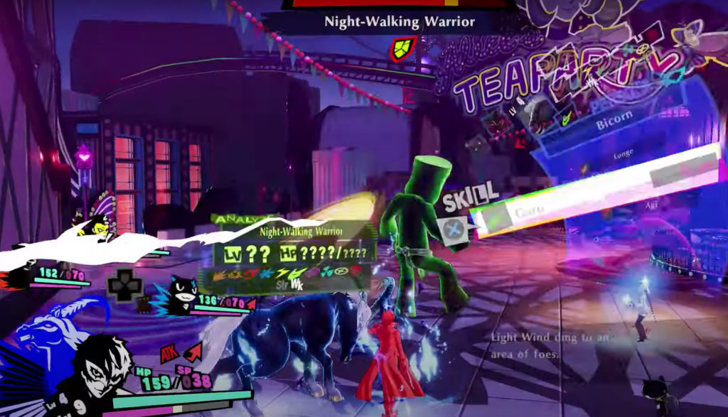 Screenshot from the video game Persona 5 Strikers