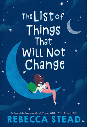 "Picture of the book cover for ""The List of Things That Will Not Change."""