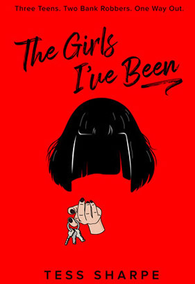 "Red book cover for ""The Girls I've Been."""