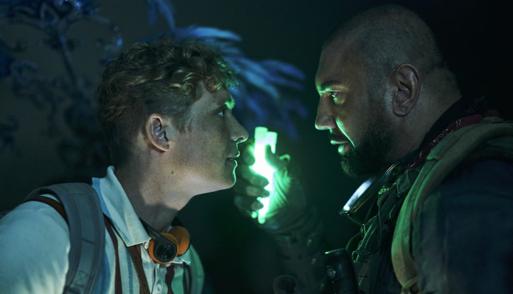 Matthias Schweighöfer and Dave Bautista in Army of the Dead