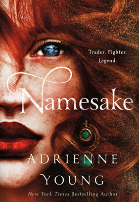 "Picture of the book cover for the YA novel ""Namesake."""