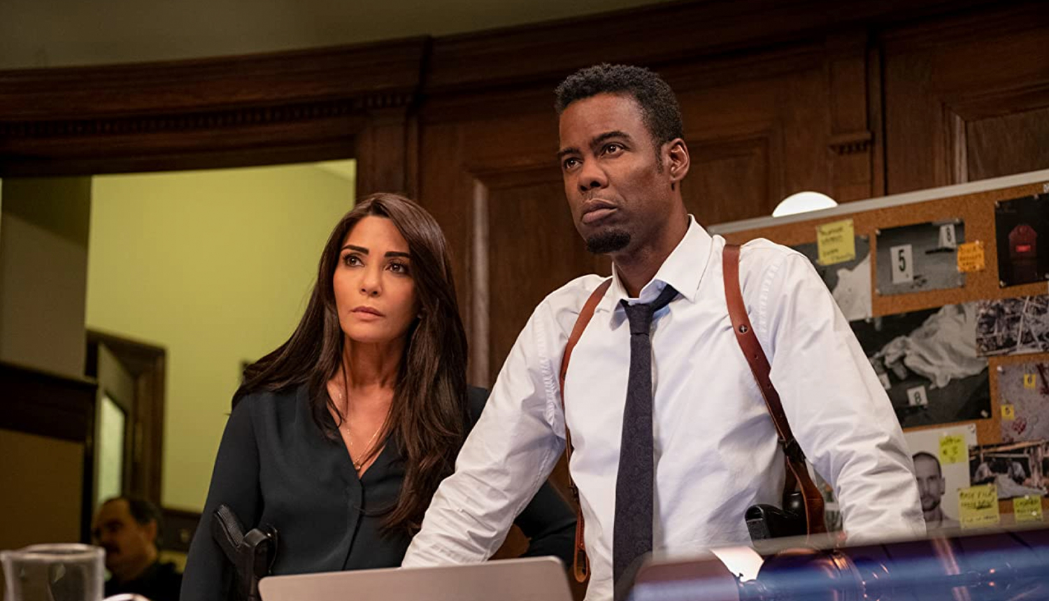 Chris Rock and Marisol Nichols in Spiral
