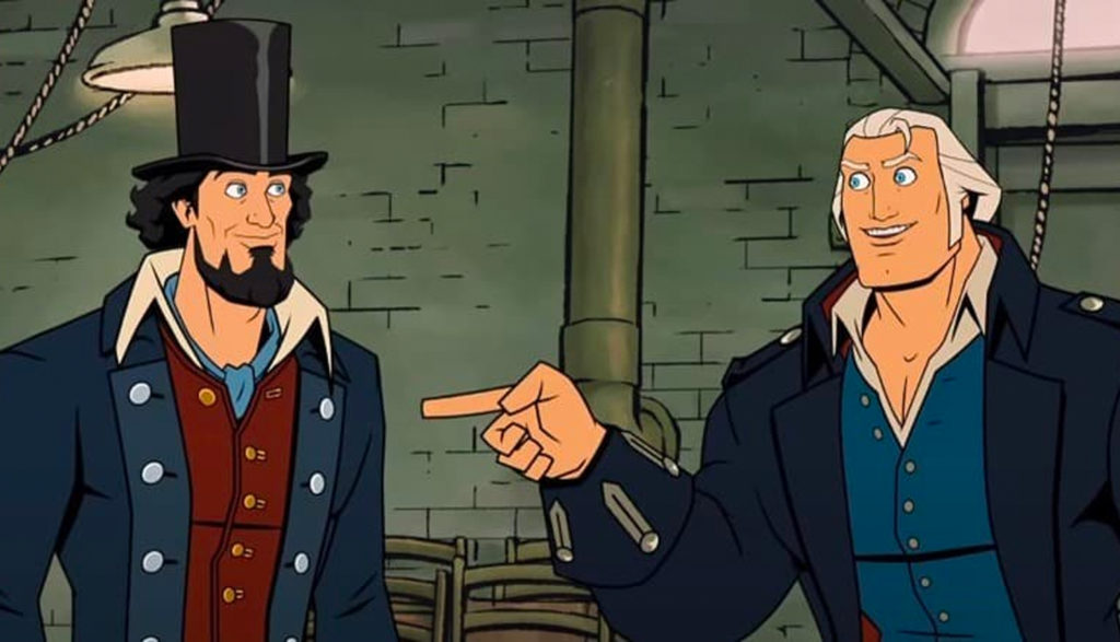 George Washington and Abraham Lincoln in America The Motion Picture