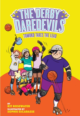 """Cover image for the book """"The Derby Daredevils: Tomoko Takes the Lead."""""""