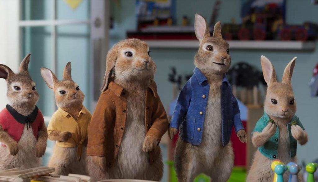 Rabbits in Peter Rabbit 2