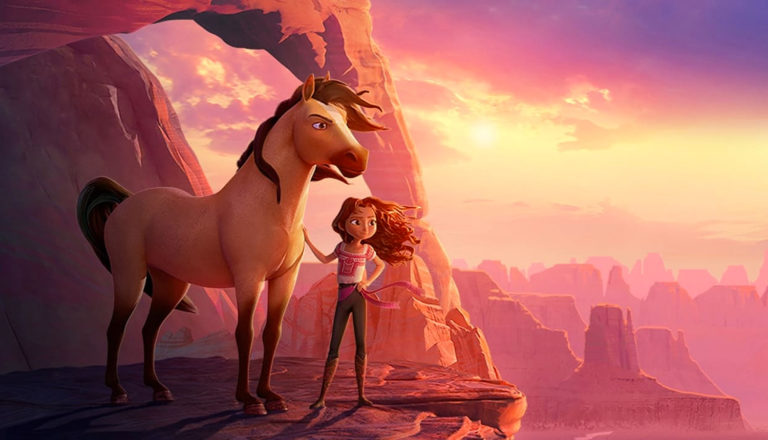 Girl and horse in Spirit Untamed