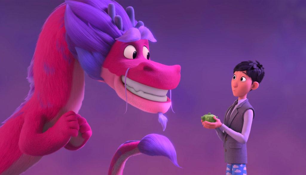 Boy and dragon in Wish Dragon