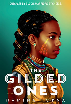 """Picture of the book cover for """"The Gilded Ones."""""""