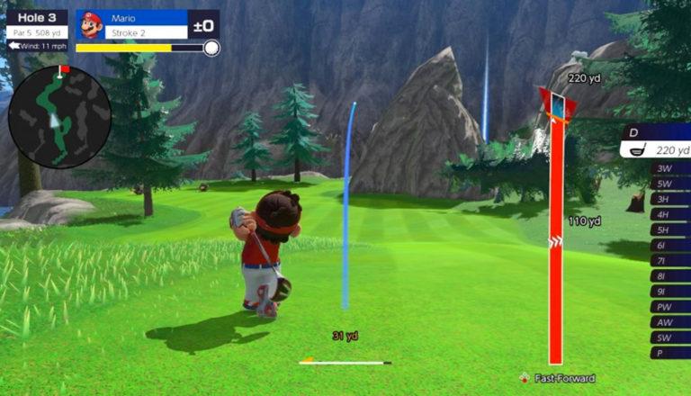 Gameplay on Mario Golf Super Rush
